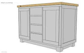 Kitchen Island Building Plans How To Build A Diy Kitchen Island Cherished Bliss