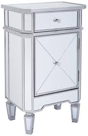 amazon com monarch specialties 1 drawer accent cabinet mirrored