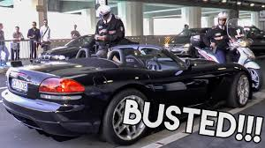 Dodge Viper Lime Green - busted dodge viper pulled over by the police in monaco youtube
