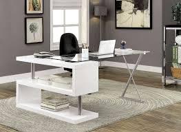 white high gloss desk bronwen white high gloss finish desk w unique s shaped side panel