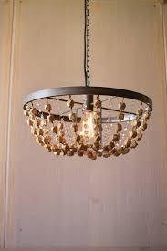 wood bead ceiling light metal wood beaded pendant light home goods store united states