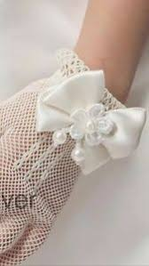 communion gloves ivory holy communion gloves flower girl gloves ivory