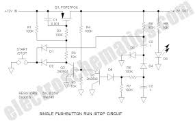 single pushbutton run stop circuit