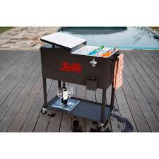 Patio Table Cooler by Permasteel 80 Qt Rolling Patio Cooler With Bottle Tray Ps 206