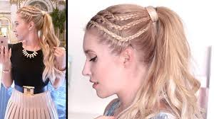 lilith moon youtube hair tutorial braided high ponytail lookbook night out style