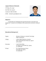 sample resume for fresh graduate resume sample hrm students frizzigame sample resume for fresh graduate in hrm frizzigame
