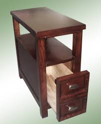 Chair Side End Table New Chairside End Table In Rich Espresso Cappuccino Oversized Drawer