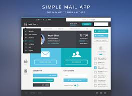 simple flat mail app design by tommy roussel design web