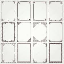 cornici foto gratis italiano set di cornici decorative e bordi proporzioni a4 4 vettoriali