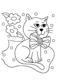 pet cat coloring sheets for kids coloring pages