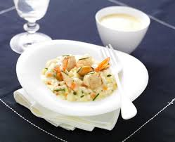 cuisiner les fruits de mer risotto de jacques et fruits de mer sauce jacques au