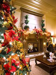 White Christmas Tree With Red And Gold Decorations Photo Page Hgtv