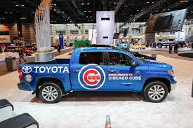 toyota tundra chicago with trucks and football at the chicago auto motor trend