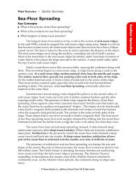 Prentice Hall Inc Science Worksheet Answers Pearson Seafloor Spreading Worksheets