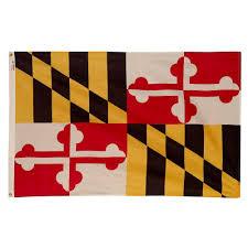Seasonal Designs Flag Pole Valley Forge Flag 3 Ft X 5 Ft Nylon Maryland State Flag Md3