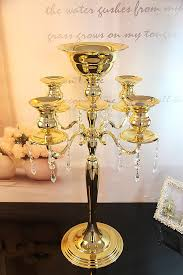 Cheap Candelabra Centerpieces Gold Crystal Wedding Centerpieces Promotion Shop For Promotional