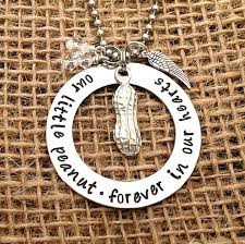 pregnancy loss jewelry miscarriage jewelry in memory necklace our peanut forever