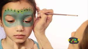 peacock face painting tutorial youtube