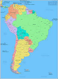 map of america with country names south america map