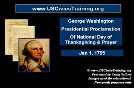 presidential proclamation george washington national day of