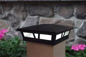 6x6 solar post cap lights black cambridge aluminum and glass