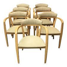 Maple Chairs Mid Century Light Maple Lowenstein Dining Chairs Set Of 7 Chairish