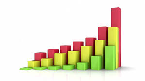 growing chart animated paper chart graph showing financial growth stop motion