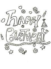 free printable birthday coloring cards cards create and print