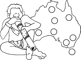 australia map and man aboriginal coloring page wecoloringpage