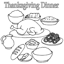 thanksgiving food coloring pages kids coloring