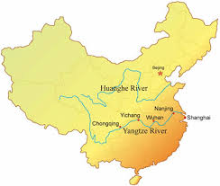 rivers in china map river location map