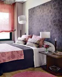 Pink Purple Bedroom - bright bedroom wall decoration with modern wallpaper