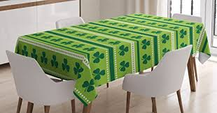 Green Table L St Patricks Day Tablecloth