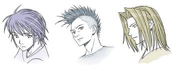 hhort haircut sketches for man drawing anime hair for male and female characters impact books