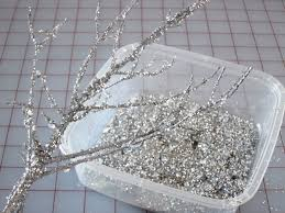 Sparkly Glitter Branches for Holiday Decorating