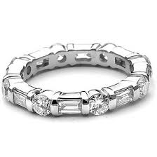 eternity rings diamonds images Platinum round baguette diamond eternity ring 15162 newburysonline jpg