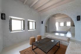 restored 17th century stone house in greece with modern aesthetics