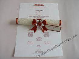 scroll wedding programs qatar wedding invitations shipping cost