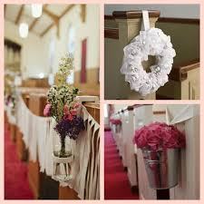 church wedding decorations on pew and aisle the latest home