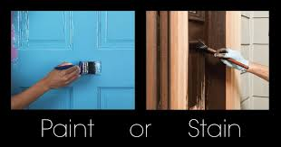 is it better to paint or stain your kitchen cabinets how to make your front door look paint or stain