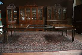 henredon double pedestal dining table