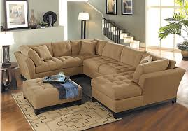 Sectional Sofas Rooms To Go by Cindy Crawford Home Metropolis Peat 4 Pc Sectional Living Room