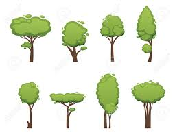 nature vector cut tree design elements vector tree flat