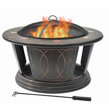 propane fire pit canada hampton bay 34 inch round fire pit including cooking grill ftb