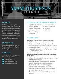 Photography Resumes Photo Resume Templates Canva