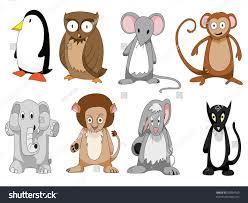 set eight cute cartoon animals stock vector 50994553 shutterstock