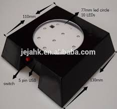 led light base for crystal usb power lights black plate led base for crystal trophy and event
