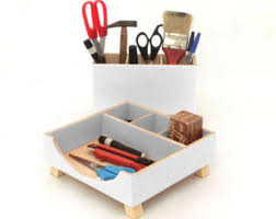 Desk Organizer White Yellow Desk Organizer Desktop Office Organizer Box Set Wood