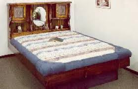 wood frame waterbeds at snooze city