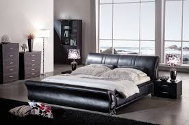 bedroom leather bed frame queen what color paint goes with dark